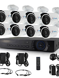 YanSe® 8CH 720P CCTV Camera Security System D/N IR 24LED Bullet Waterproof AHD DVR KIT