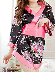 SKLV Women's Polyester Kimono Uniforms & Cheongsams/Robes/Ultra Sexy/Suits Nightwear