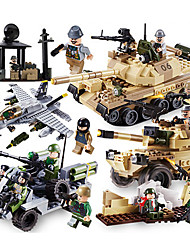 Building Blocks For Gift  Building Blocks Model & Building Toy Tank ABS 5 to 7 Years 8 to 13 Years 14 Years & Up Green Gray Toys