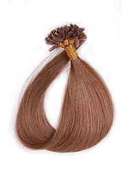 7A Keratin U Tip Virgin Human Hair Extensions 0.5g/s 100s 16-24 inch U Tip Fusion Hair Extensions Nail U Tip Hair Extensions Human Straight Hair
