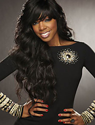 Hot Sale Unprocessed Brazilian Human Virgin Glueless Lace Front Wig With Baby Hair For Black Woman