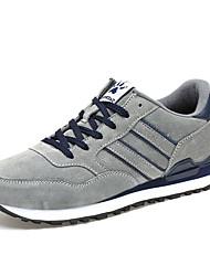 Da uomo-scarpe da ginnastica-Casual-Comoda-Piatto-PU (Poliuretano)-Grigio chiaro Blu marino