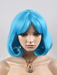 2017 Europe and the United States new short paragraph in the sub-blue fashion high temperature wire wig