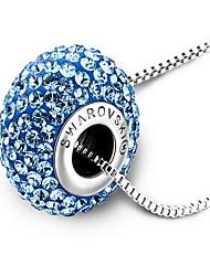 Ожерелья с подвесками Кристалл Сплав Одинарная цепочка Базовый дизайн Золотой Белый Светло-синий Бижутерия Повседневные 1шт