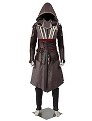 Cosplay Costumes Halloween Props Party Costume Masquerade Super Heroes Cosplay Assassin Movie Cosplay White Black Gray PatchworkCoat Top