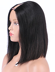 12Inch Short Style U Part Bob Wig 8A Brazilian Hair Upart Wig Bob Cut Wigs Middle Side Part Wigs Remy Virgin Hair U Part Wigs