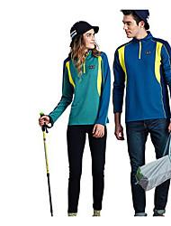 Unisexe Hauts/Tops Sport de détente Confortable Printemps Automne Vert BleuM L XL