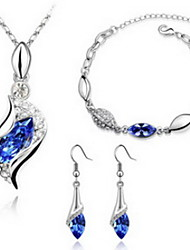 Women's Jewelry Set Crystal Crystal 1 Necklace 1 Pair of Earrings 1 Bracelet For Party Wedding Gifts