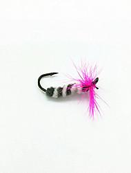 3 pçs Moscas Iscas Moscas Rosa g/Onça mm polegada,Plástico Suave Pesca Geral