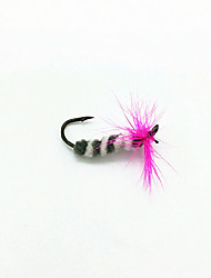 3 pcs Flies Flies Pink 1 g Ounce mm inch,Soft Plastic General Fishing