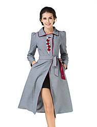 la nouvelle robe de manteau de printemps élégant rétro coupe-vent léger