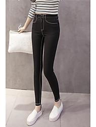 Sign 2017 spring new high elastic Slim Denim leggings outer wear trousers pencil pants