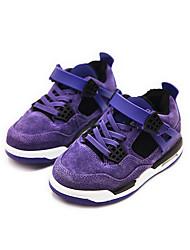 Girl's Boots Comfort PU Casual Black Purple Gray