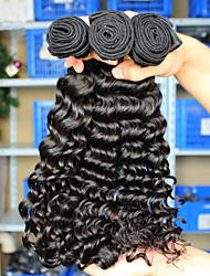 6A Malaysian Virgin Hair Malaysian Curly Hair Deep Wave 3Pcs Loose Deep Curly Wave Human Hair Weave