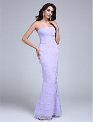 TS Couture Prom / Formal Evening Dress - Celebrity Style Trumpet / Mermaid Strapless Floor-length Chiffon with Beading