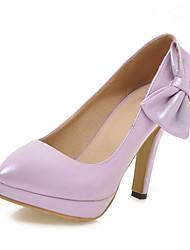 Damen-High Heels-Büro Kleid Party & Festivität-Kunstleder-Stöckelabsatz-Andere-Beige Rosa / Weiß Silber Light Purple