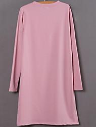 2017 printemps nouvelle version coréenne de femmes de grande taille a été coton mince t-shirt à manches longues de graisse mm t-shirt col
