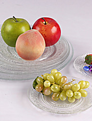 1PC Pattern Glass Dishes The Cake Plate Patterned Glass Dish Dish Dish Dishes Snacks Snacks Saucer Fruit Plate