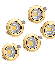 5pcs  5W COB 220-240V Golden LED Down Light Recessed Ceiling