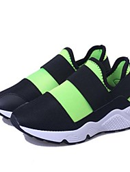 Women's Athletic Shoes Spring Summer Fall Light Soles Fabric Tulle Casual Black Green Red Gray