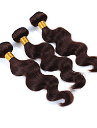 3Pcs/Lot Virgin Human Hair Weaves Body Wave Hair Weft Brazilian Hair Bundles Chocolate Brown Brazilian Human Hair Weaves
