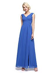 LAN TING BRIDE Ankle-length V-neck Bridesmaid Dress - Elegant Sleeveless Chiffon