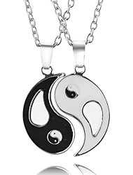 Necklace Taiji Pendant Necklace Jewelry Party / Daily Unique Design for Couple