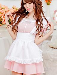 SKLV Women's Cotton Blends Maid Uniforms Ultra Sexy/Suits Nightwear/Lingerie