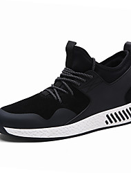 Men's Sneaker Spring Fall Casual Shoes Flat Heel Lace-up Black / gray / blue Walking