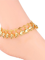 U7® Women's Ankle Foot Chains 18K Real Gold/Platinum Plated Cute Elephants Charms Sandal jewelry Kids Anklets Bracelets