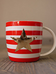 Novelty Drinkware, 280 ml BPA Free Bone China Textile Coffee Milk Coffee Mug Travel Mugs