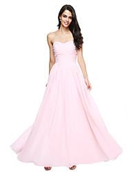 LAN TING BRIDE Floor-length Sweetheart Bridesmaid Dress - Open Back Sleeveless Chiffon