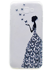 For Samsung Galaxy A7(2017) A5(2017) TPU Material Butterfly Girl Pattern Painted Phone Case  A3(2017) A510 A310