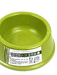 Chat Chien Mangeoires Animaux de Compagnie Bols & alimentation Portable Vert Orange Beige Bambou
