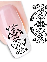 1sheet  Water Transfer Nail Art Sticker Decal XF1449