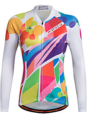Sports Cycling Jersey Women's Long Sleeve BikeBreathable Quick Dry Moisture Permeability Front Zipper Reflective Strips Sweat-wicking