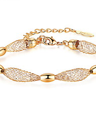 Women's Chain Bracelet Crystal Natural 18K gold Austria Crystal Alloy Jewelry Jewelry For Gift