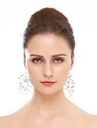 Rhinestone Hoop Earrings Jewelry Wedding Party Rhinestone 1 pair White
