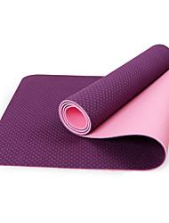 TPE Mats Yoga Eco-friendly Inodore 6 mm Rosa Blu Verde Viola Nero Other