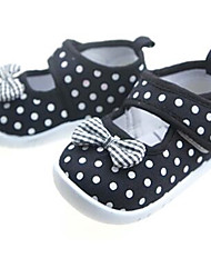 Girls' Baby Flats Slingback Canvas Microfibre Summer Casual Slingback Flower Flat Heel Black Flat