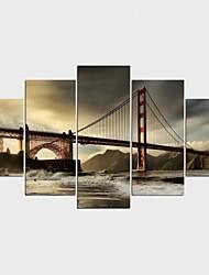 Impression sur Toile Célèbre Paysage Moderne Classique,Cinq Panneaux Toile Toute Forme Imprimer Art Décoration murale For Décoration