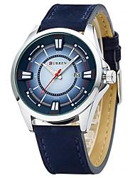 CURREN 8155 Fashion Casual Belt Calendar Quartz Watch