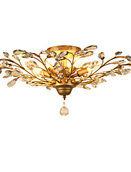 LightMyself Flush Mount   Traditional/Classic Vintage Retro Country Antique Brass Feature for Crystal LED Mini Style MetalLiving Room Bedroom