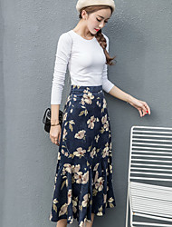Spot real shot theatrical flounced waist was thin corduroy skirts and long fishtail skirt big skirt