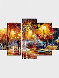 Framed Art Print Abstract Landscape Classic Traditional,Five Panels Canvas Any Shape Print Wall Decor For Home Decoration