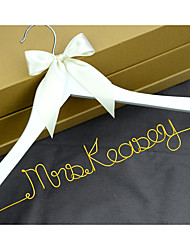 Personalized Wedding Hanger Custom Wedding Dress Hanger Wire Bride Name Hanger Bridesmaid dress Hanger with Gold Name
