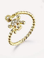 Anello Lega A forma di teschio Oro Gioielli Quotidiano Casual 1 pezzo