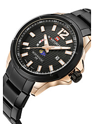 NAVIFORCE Men's Dress Watch Fashion Watch Wrist watch Calendar Water Resistant / Water Proof Moon Phase Quartz Japanese QuartzStainless