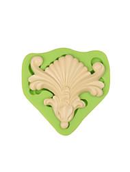 Barroco vintage bolo fronteira fondant silicone moldar doces colar decoração moldes cor aleatória