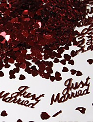 15g 380pcs Table Party Scatters Confetti Gold Silver Just Married Wedding Cofetti Decor Free Shipping
